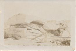 Ruines De La Grande Guerre- Abri Démoli à Ramscapelle Mai 1917   Photo 9/6 Cm - Guerra, Militares