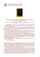ITALIA  1966 - Bollettino Illustrativo P.TT. - (italiano-francese) - Donatello - Arte - Pittura - Paquetes De Presentación