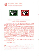 ITALIA 1967 - Bollettino Illustrativo P.TT.  - (italiano-francese) - Festival Spoleto - Teatro - Paquetes De Presentación