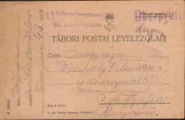 Romania/Hungary-Field Post  Postcard 1915,censored, K.u.k. Infanterieregiment Nr.2,circulated To Nagyajta,Ardeal - Cartas De La Primera Guerra Mundial