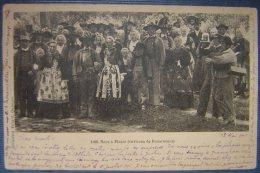 CPA Noce à Ploare (environs De Douarnenez) Précurseur 1901 Collection Villard Quimper  (mariage Breton) - Douarnenez
