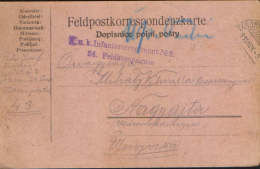 Romania/Hungary-Field Post Postcard 1915 K.u.k 24 Feldkompagnie ,circulated To Nagyajta ,Ardeal- 2/scans - Cartas De La Primera Guerra Mundial