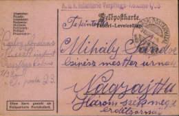 Romania/Hungary-Field Post Postcar 1915 K.u.k Infanterie Verpflegs-Kolonne 1/38 ,circulated To Nagyajta ,Ardeal- 2/scans - Cartas De La Primera Guerra Mundial