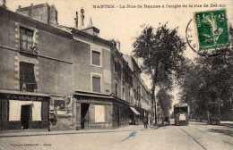 LOIRE ATLANTIQUE CPA NANTES LA RUE DE RENNES A L'ANGLE DE LA RUE DE BEL AIR - Nantes