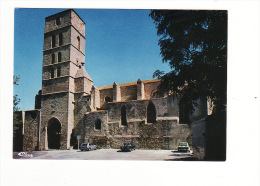 11-MONTOLIEU- L'église-non Voyagé-voitures - Other Municipalities