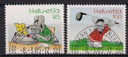 2005 Schweiz  Mi. 1915-6 FD-used  Comicfiguren Von Uli Stein - Used Stamps