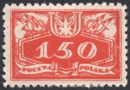 Poland, 150 F. 1920, Sc # O8, Mi # 8, MH - Officials