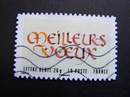 FRANCE OBLITERE 2012 N° 767  SERIE MEILLEURS VOEUX AUTOCOLLANT ADHESIF - France