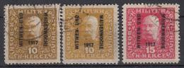 OOSTENRIJK - Michel - 1917 - Nr 119/20 A + B (Bosnie-Herzegowina) - Gest/Obl/Us - Cote 16.00€ - Levant Autrichien