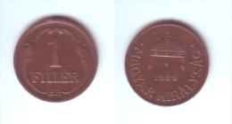 Hungary 1 Filler 1939 - Hungary