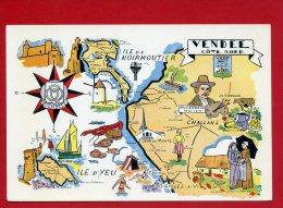 VENDEE COTE NORD  CARTE EN TRES BON ETAT - Frankrijk