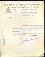 S.A. John COCKERILL-Charbonnage Des Liégeois-Courrier De 1942. - Vieux Papiers
