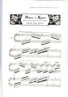 Partition HYMNE A KYPRIS Chanté Au Deuxième Acte De Timon D'Athènes Imprimé En 1907 - Partitions Musicales Anciennes