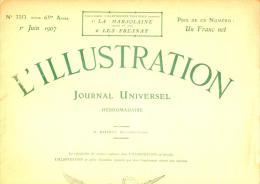 L'ILLUSTRATION Du 1er Juin 1907 32 Pages Richement Illustré Photo Inauguration Du Monument De Bartholdi à Colmar - Bücher, Zeitschriften, Comics