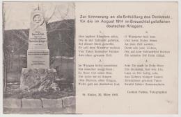 Kriegerdenkmal Im Breuschtal, Militaer-Postkarte - Oorlogsbegraafplaatsen