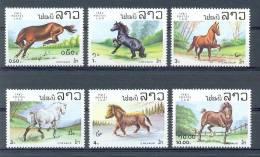 Mua159 FAUNA PAARDEN HORSES PFERDE CHEVAUX LAOS 1983 PF/MNH - Pferde