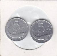 2X5 LIRE Alu 1954 R ET 1955 R - 1946-… : República