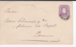 CHILI - 1894 - ENVELOPPE ENTIER POSTAL De VALPARAISO Pour PEUMO - Chili