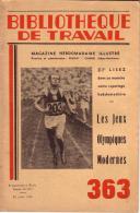 REVUE - BIBLIOTHEQUE DE TRAVAIL - PEDAGOGIE FREINET - N° 363 - JUILLET 1956 - LES JEUX OLYMPIQUES MODERNES - 24 PAGES - Books, Magazines, Comics
