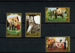 238405970 THAILAND POSTFRIS MINT NEVER HINGED POSTFRISCH EINWANDFREI  Yvert 2447 2448 2449 2450 Olifant Animals - Thaïlande