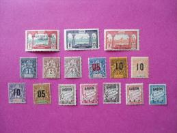 Gabon Poste Neuf * 16 Timbres  ( Lot 57 ) - Gabon (1886-1936)