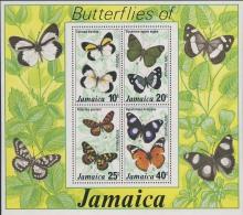 MDV-BK2-395 MINT PF/MNH ¤ JAMAICA 1977 BLOCK ¤ - BUTTERFLIES - FARFALLE - MARIPOSAS - PAPILLONS - VLINDERS - Mariposas