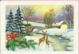 HAPPY NEW YEAR - Stone Bridge And Deer, 1983., Yugoslavia (Jež, C-36357) - Anno Nuovo