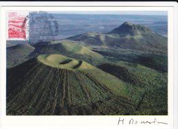 Carte Maximum FRANCE  N°Yvert 2951 (AUVERGNE) Obl Sp Ill Orcines (Ed Artisanales Monestier 04) - Cartas Máxima