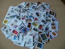 Vrac De 350 Timbres De FRANCE Et D´Etrangers Sur Fragments - Stamps