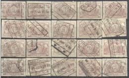 _Tr931: Restje Van 20 Zegels: N° TR26.. Om Verder Uit Te Zoeken... Stempels... - Spoorwegen