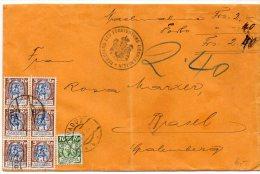 Liechtenstein : Lettre En Valeur Déclarée De 2f40 De 1926 Pour La Suisse - Pli Vertical