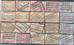 _Tr928: Restje Van 20 Zegels: Verbeterde Stempel: Dikke Kaderlijnen... Om Verder Uit Te Zoeken... Stempels... - Spoorwegen