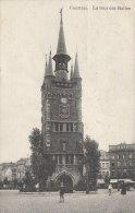 Cpa/pk Fotokaart 1910 Courtrai Kortrijk Les Halles La Tour - Kortrijk