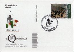 """Italia 2011 Annullo Roma Quirinale Cerimonia Inaugurale Mostra """"Il Quirinale Dall'Unità D'Italia Ai Giorni Nostri - Altri"""
