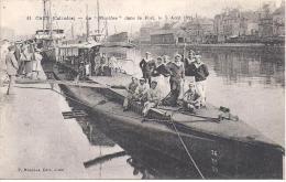 """CAEN - Le """" Pluviôse """" Dans Le Port Le 7 Août 1911 - Caen"""