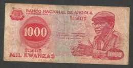 [NC] BANCO NATIONAL De ANGOLA - 1000 KWANZAS (1979) - Angola