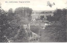 CAEN -  Aviation - Virage Sur La Prairie - Caen
