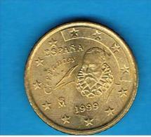 ESPAÑA # EUROS -  50 Cents - Centimos De Euro 1999 - España