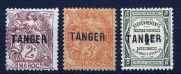 A2416) Französische Post Tanger 3 Marken Mit Falz * Unused MH - Neufs