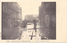 CAEN - Crue De L'Orne - 1er Décembre1910 - La Rue De Vaucelles Inondée - Caen