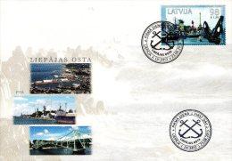 Latvia Lettland Lettonie 2013 (11) Sea Ports Of Latvia - Liepaja Free Port, Lighthouse (unaddressed FDC) - Lettland