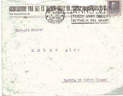 1928 Cent. 50 VE Su Lettera Con Annullo Meccanico-Anno VI Terzo Anno Della Battaglia Del Grano - 1900-44 Vittorio Emanuele III