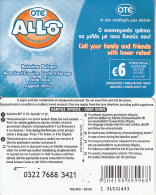 GREECE - Allo Card, OTE Prepaid Card 6 Euro, Black Writing, Tirage 80000, 08/06, Used