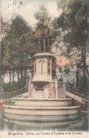 Cpa/pk 1905 Brussel Bruxelles Statue Des Comtes D´Egmont Et De Hornes KLEUR COLOR - Beroemde Personen