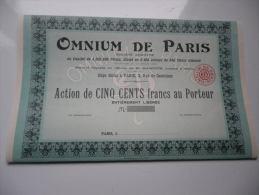 OMNIUM DE PARIS - Shareholdings