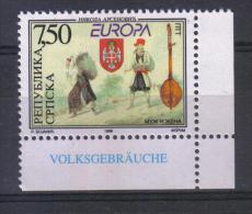 FRZ301 - BOSNIA E. Repubblica SERBA ,  Unificato Il N. 105  *** EUROPA - 1998