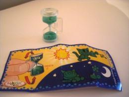 Kinder Surprise Sabliers DE074 C  Sablier Vert - Chat + Bpz - Montables