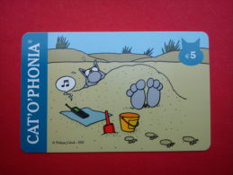 Carte Catophonia Philippe Geluck Le Chat Used Rare - [2] Prepaid & Refill Cards