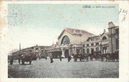 Cpa/pk 1905 Liège Liége Luik Gare Guillemins KLEUR COLOR - Liege