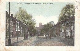Cpa/pk 1905 Liège Liége Luik Boulevard De La Sauvenière & Eglise St Martin  KLEUR COLOR - Liege